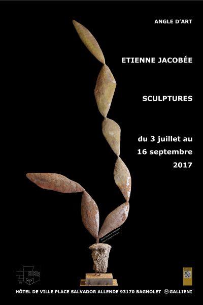affiche Angle d'art Etienne Jacobée sculpteur sculpture