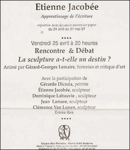 rencontre débat TAILLE 1024x768px 72dpi  GIMP-COLOR RECADRE CORRIGÉ 'la sculpture a-t-elle un destin 25.04.1997 (1) - Copie