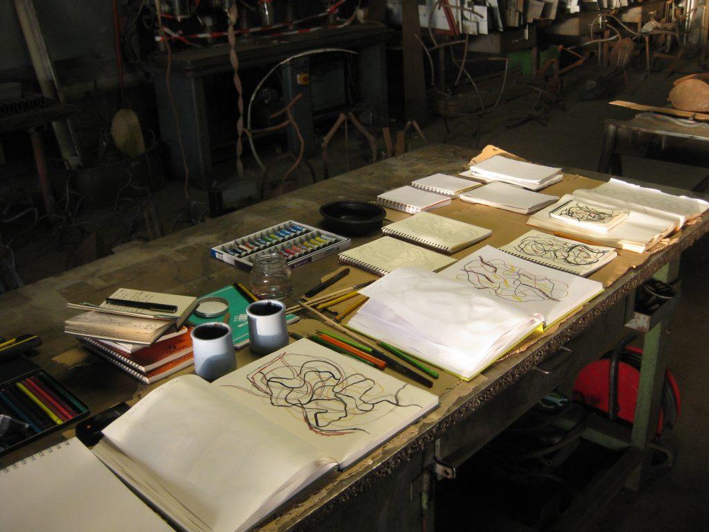 Carnets - vue en atelier 2013